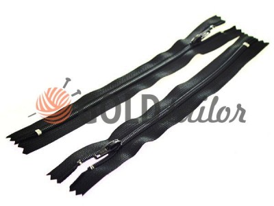 Zipper trousering YKK spiral 18 cm type 4, color black, wholesale and retail