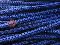 Cord for clothes 5 mm hollow, color blue 065