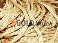 Cord for clothes 5 mm hollow, color beige 125