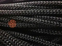 Cord for clothes 5 mm hollow, color black