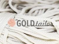Шнур для одягу 5 мм пустотілий, колір білий