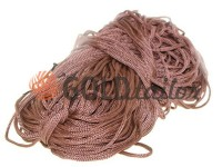 Cord for clothes 5 mm hollow, color brown 041