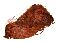 Cord for clothes 5 mm hollow, color brown 155