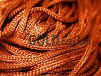 Шнур для одягу 5 мм пустотілий, колір коричневий 155