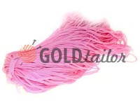 Cord for clothes 5 mm hollow, color pink 007