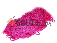 Cord for clothes 5 mm hollow, color pink 009