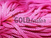 Cord for clothes 5 mm hollow, color pink 163
