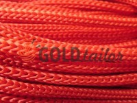Cord for clothes 5 mm hollow, color red 010