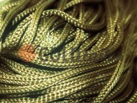 Cord for clothes 5 mm hollow, color olive 090