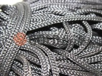 Cord for clothes 5 mm hollow, color gray 116