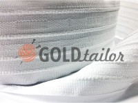 Webbing for curtains cotton white 60 mm