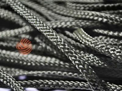Шнур плоский 7 мм в рулоні без наповнювача, колір чорний оптом і вроздріб від 1 м