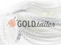 Шнур плетений плоский 7 мм, колір білий