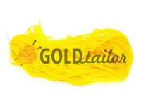 Cord braided flat 7mm, color yellow