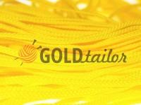 Шнур плетений плоский 7 мм, колір жовтий