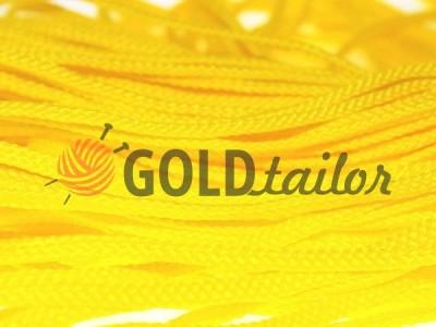 Шнур плоский 7 мм в рулоні без наповнювача, колір жовтий оптом і вроздріб від 1 м