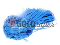 Cord braided flat 7mm, color blue