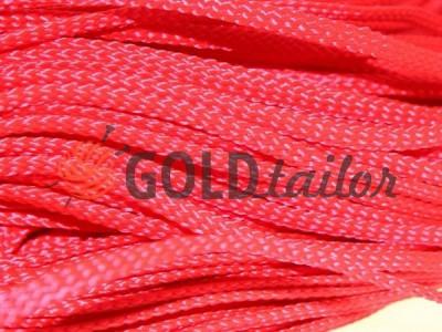 Шнур плоский 7 мм в рулоні без наповнювача, колір червоний оптом і вроздріб від 1 м