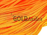 Cord braided flat 7mm, color orange