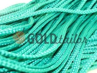 Cord braided flat 7mm, color green