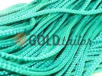 Шнур плетений плоский 7 мм, колір зелений