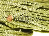 Шнур плетений плоский 7 мм, колір оливковий