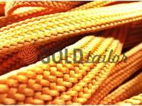 Шнур плетений плоский 10 мм, колір бежевий