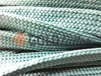 Cord braided flat 10mm, color gray