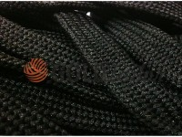 Cord braided flat 10mm, color black