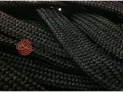 Шнур плоский 10 мм в рулоні без наповнювача, колір чорний оптом і вроздріб від 1 м