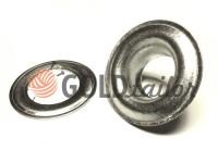 Люверс нержавіючий з кільцем 3 мм - 17 мм, колір нікель, 50 шт