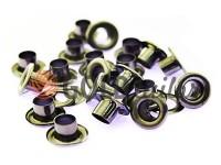 Люверс сталевий з кільцем 3 мм - 17 мм, колір темний нікель, 50 шт