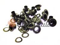 Люверс сталевий з кільцем 3 мм - 17 мм, колір оксид, 50 шт