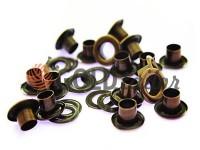Люверс сталевий з кільцем 3 мм - 17 мм, колір антик, 50 шт