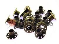 """Люверс сталевий без кільця """"Holes"""" 5 мм, колір антик, 50 шт"""