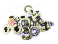 """Люверс сталевий без кільця """"Relief"""" 5 мм, колір нікель, 50 шт"""