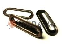 Люверс овал сталевий з кільцем 30 мм, колір антик, 1 шт