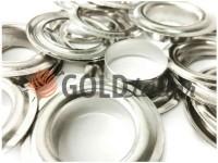 Люверс сталевий з кільцем 13 мм, колір нікель, 50 шт