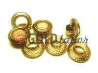 """Люверс сталевий без кільця """"Relief"""" 5 мм, колір золото, 50 шт"""