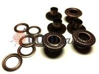 """Люверс сталевий з кільцем """"Dote"""" 5 мм, колір антик, 50 шт"""