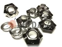 """Люверс сталевий з кільцем """"Sixgon"""" 5 мм, колір нікель, 50 шт"""