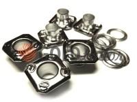 """Люверс сталевий з кільцем """"Square 11 mm"""" 5 мм, колір нікель, 50 шт"""