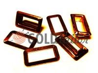 Люверс сталевий прямокутний 4 мм*12 мм, колір антик, 50 шт