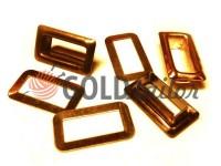 Luvers steel square 4 mm*12 mm, color gold, 50 pcs