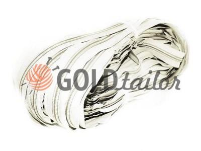 Блискавка спіральна рулонна біла тип 3-тип 10 оптом і вроздріб від 1 м