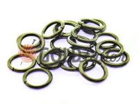 Ring steel 10 mm, thickness 1,8 mm, color black nickel