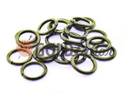 Купити кільце сталеве 10 мм, товщина 1,8 мм, колір темний нікель від 1 шт оптом і вроздріб