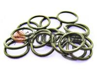 Кільце сталеве 15 мм, товщина 1,8 мм, колір темний нікель