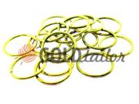 Кільце сталеве 20 мм, товщина 1,8 мм, колір золото
