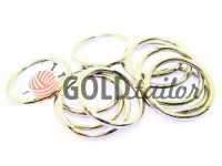 Ring steel 25 mm, thickness 2,5 mm, color nickel